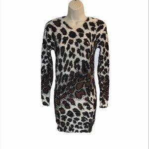 NEW Sacred Threads Eyelash Leopard Dress OS